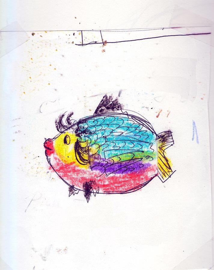 My Best Fish Friend  Painting