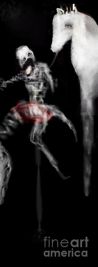 Digital Art - My Prehistoric Dead Horse by Ruth Clotworthy
