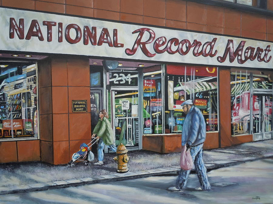 National Record Mart Painting  - National Record Mart Fine Art Print