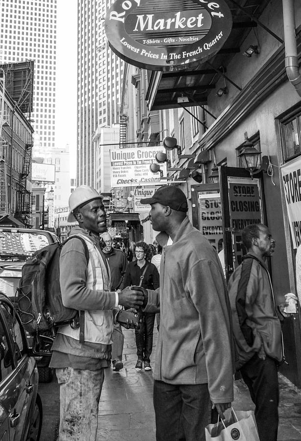 New Orleans Photograph - New Orleans Street Scene by Louis Maistros