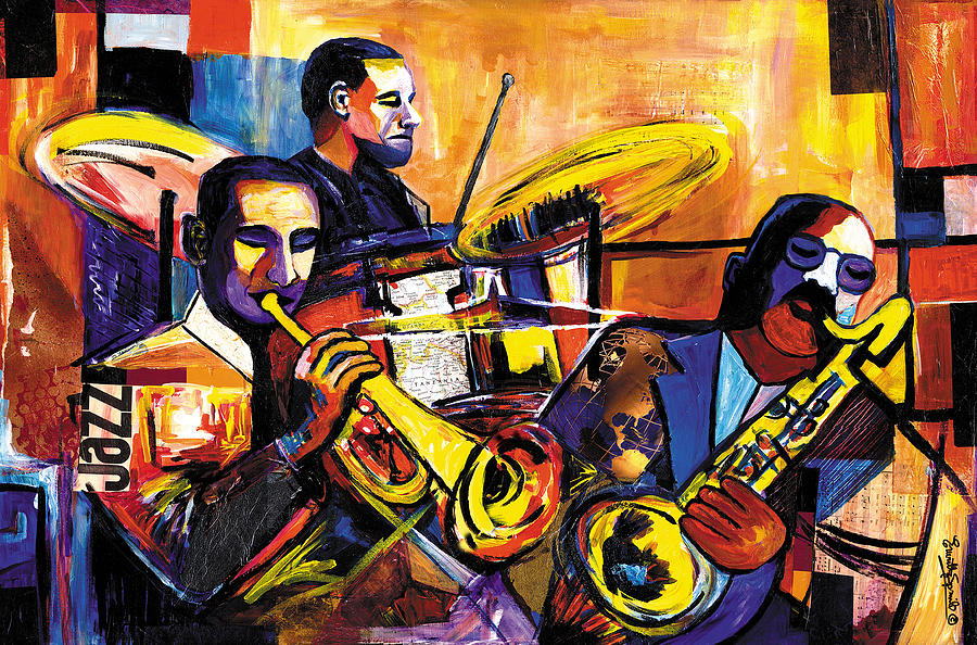 New Orleans Trio 2007 Painting  - New Orleans Trio 2007 Fine Art Print
