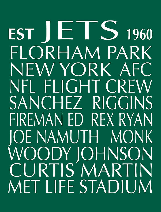 New York Jets Digital Art  - New York Jets Fine Art Print