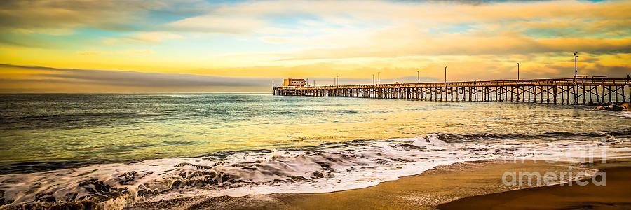 Newport Beach California Pier Panorama Photo Photograph