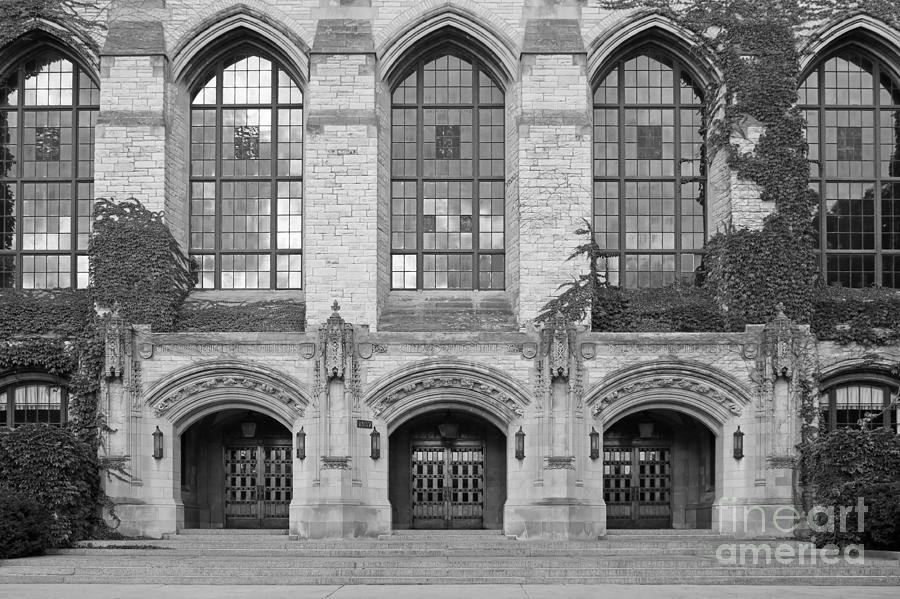 Northwestern University Deering Library Photograph  - Northwestern University Deering Library Fine Art Print