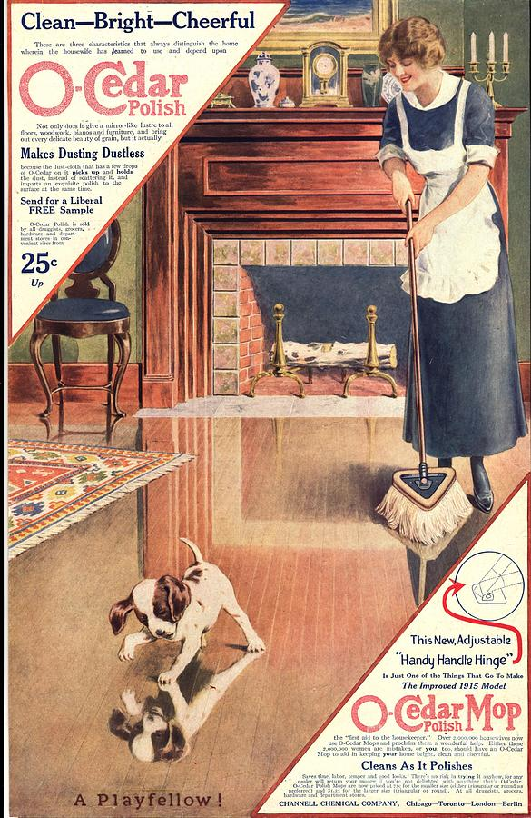 O-cedar 1910s Usa Polish Dusting Drawing