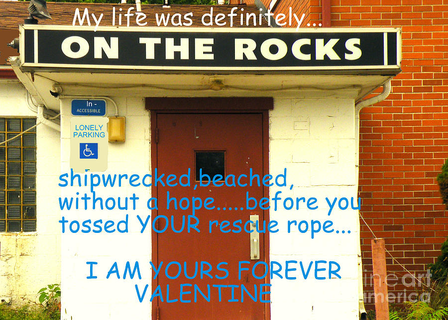 On The Rocks Valentine Photograph
