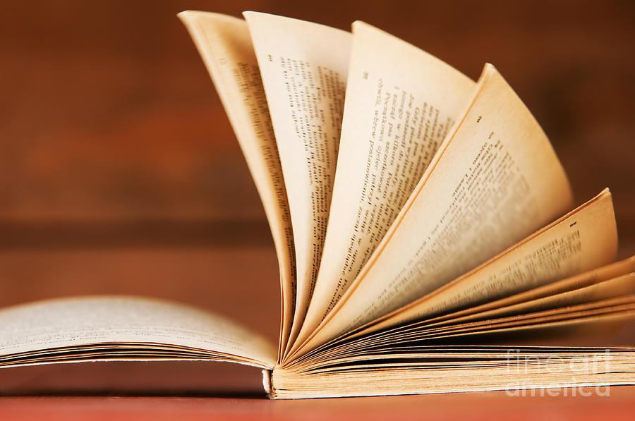 Open Book In Retro Style Photograph