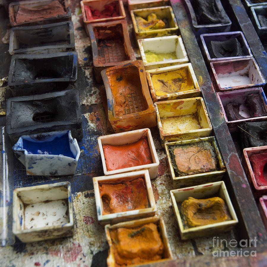 Paint Box Photograph  - Paint Box Fine Art Print