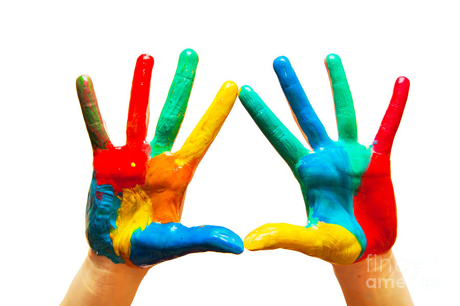 Painted Hands Photograph