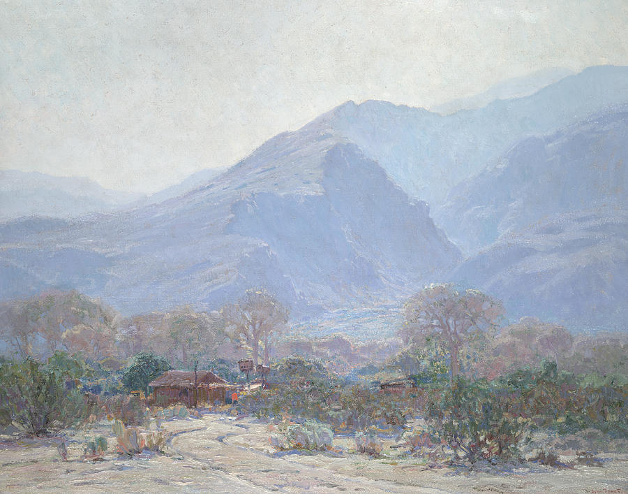 Land Painting - Palm Springs Landscape With Shack by John Frost