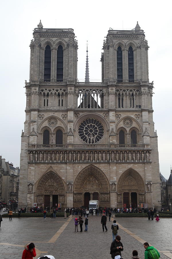 Paris France - Notre Dame De Paris - 01135 Photograph