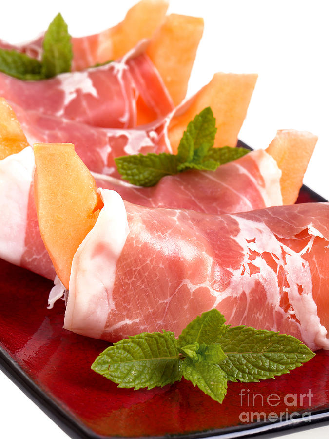 Parma Ham And Melon Photograph
