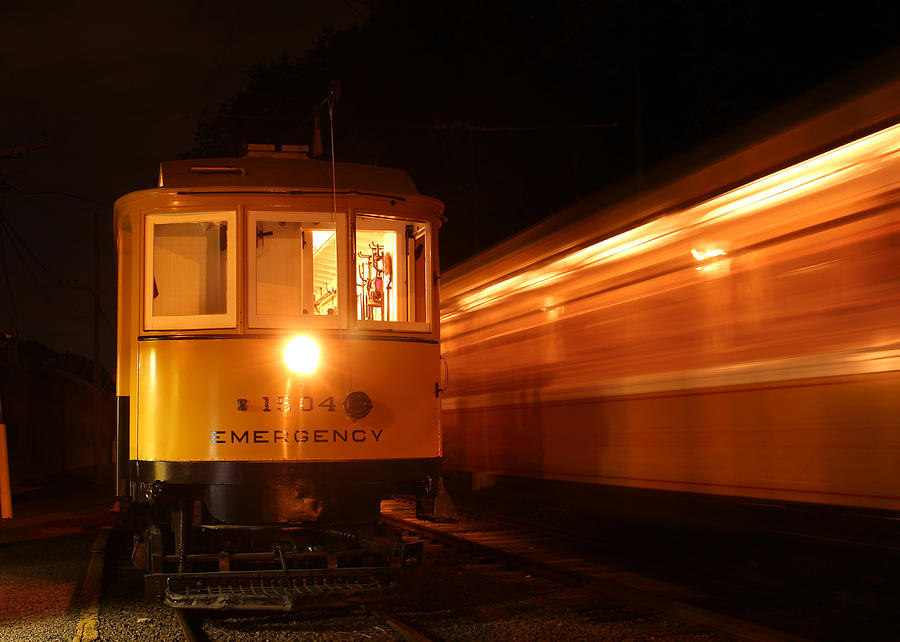 Passing In The Night Photograph