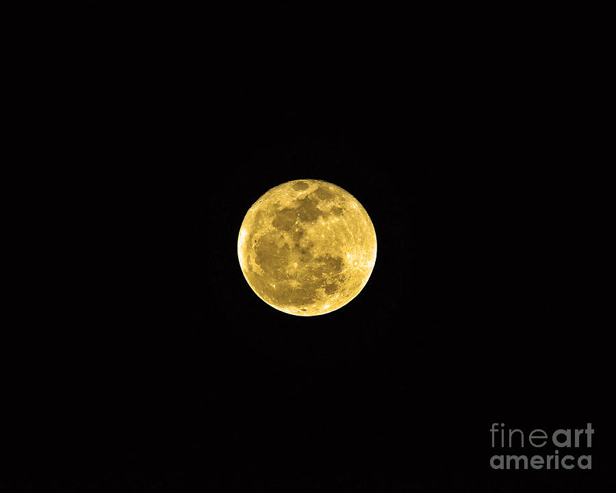 Passover Full Moon Photograph