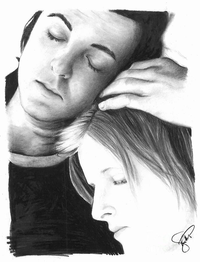 Paul Mccartney Drawing - Paul And Linda Mccartney by Rosalinda Markle