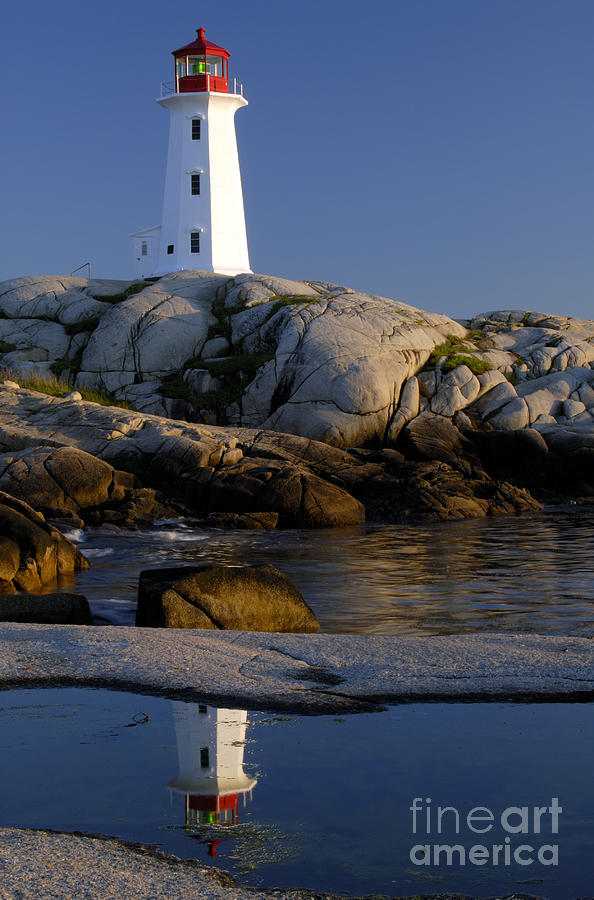 Peggys Cove Lighthouse Photograph