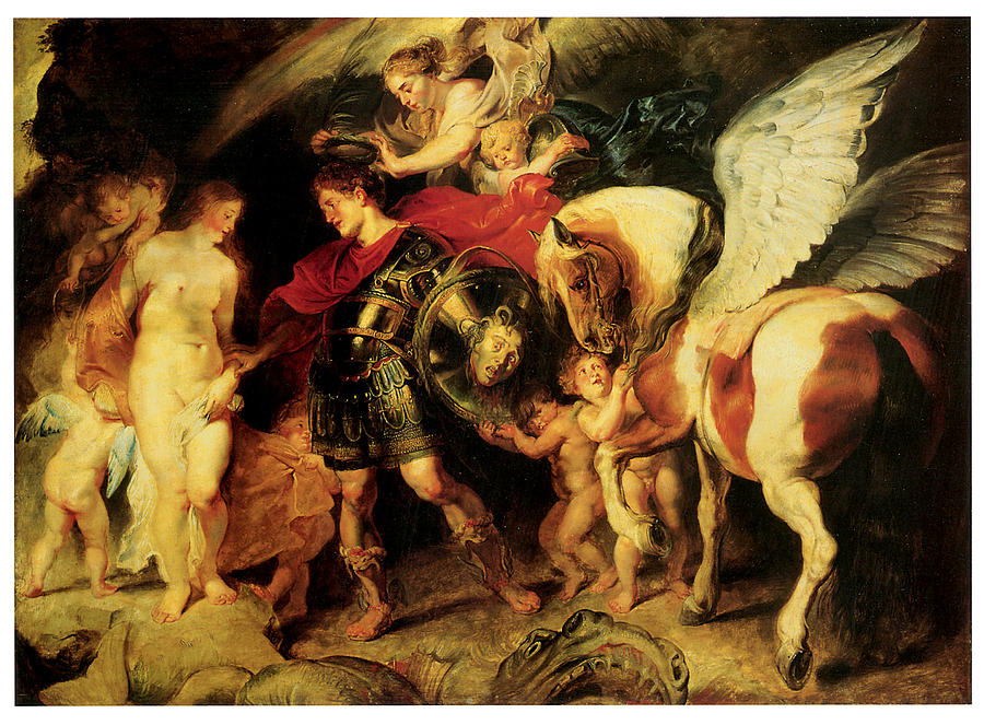 Perseus Liberating Andromeda Painting