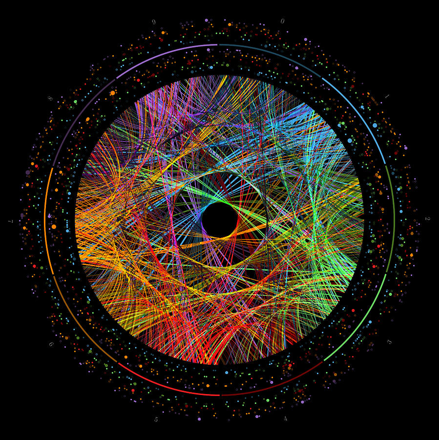 Phi Digital Art - Phi Transition Paths by Martin Krzywinski