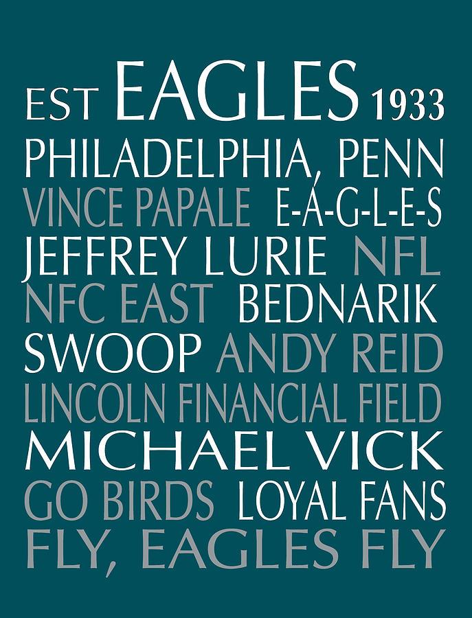 Philadelphia Digital Art - Philadelphia Eagles by Jaime Friedman