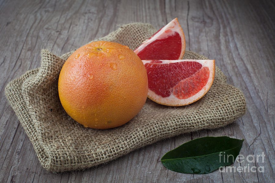 Pink Grapefruit Photograph