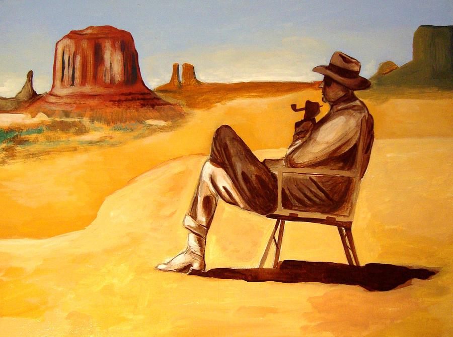 Poet In The Desert Painting