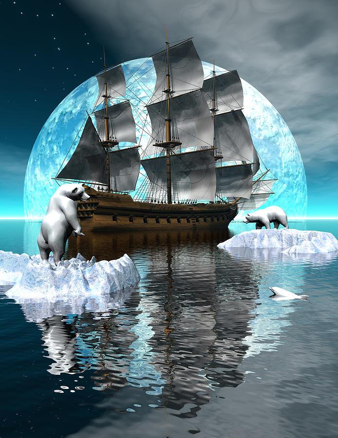 Polar Expedition Digital Art