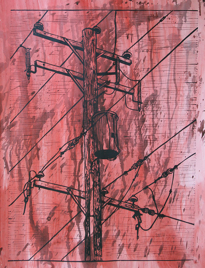 Pole With Transformer Drawing