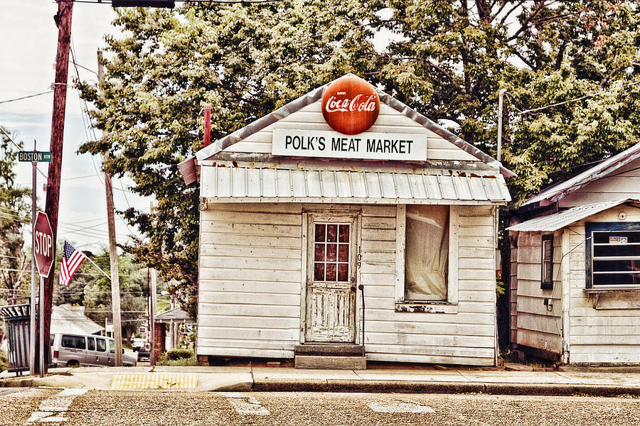 Polks Meat Market Photograph  - Polks Meat Market Fine Art Print