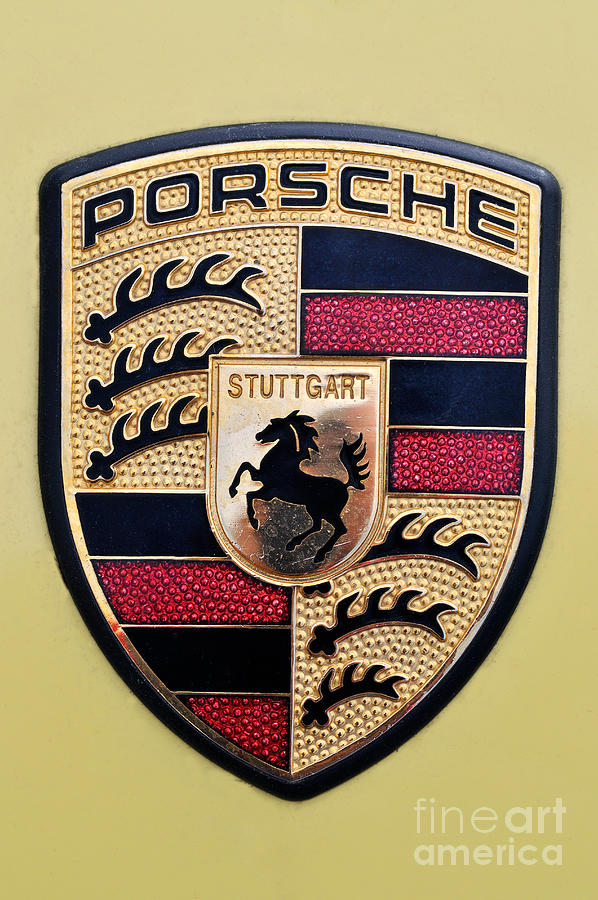 Porsche Badge Photograph  - Porsche Badge Fine Art Print