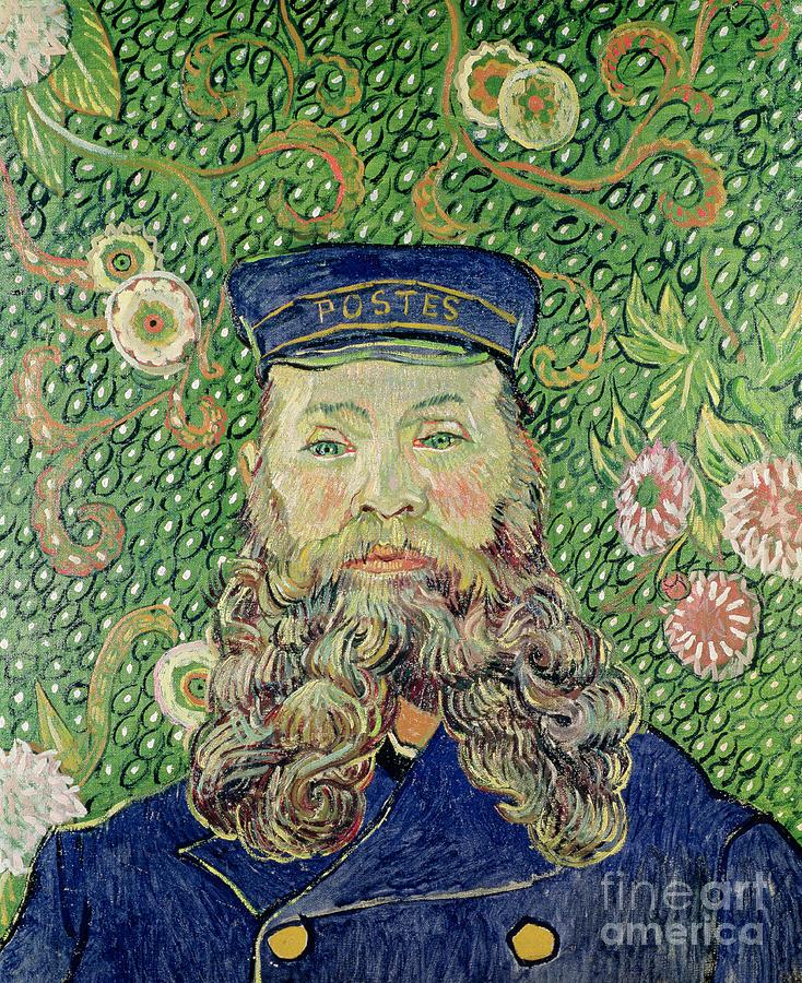 Portrait Of The Postman Joseph Roulin Painting
