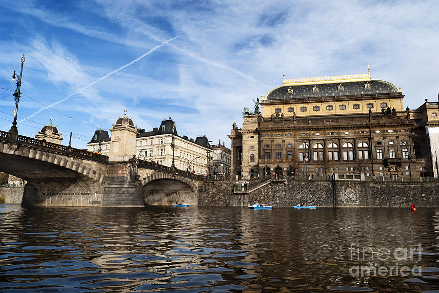 Prague Pyrography - Prague From Vltava by Jelena Jovanovic