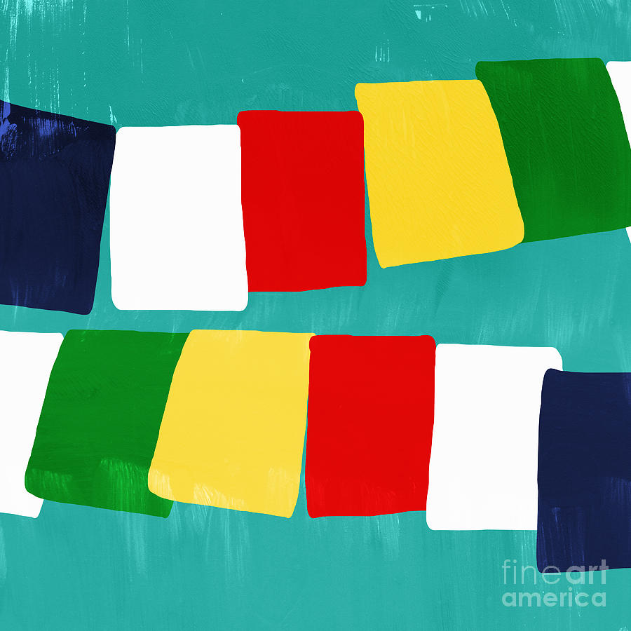 Prayer Flags Painting  - Prayer Flags Fine Art Print