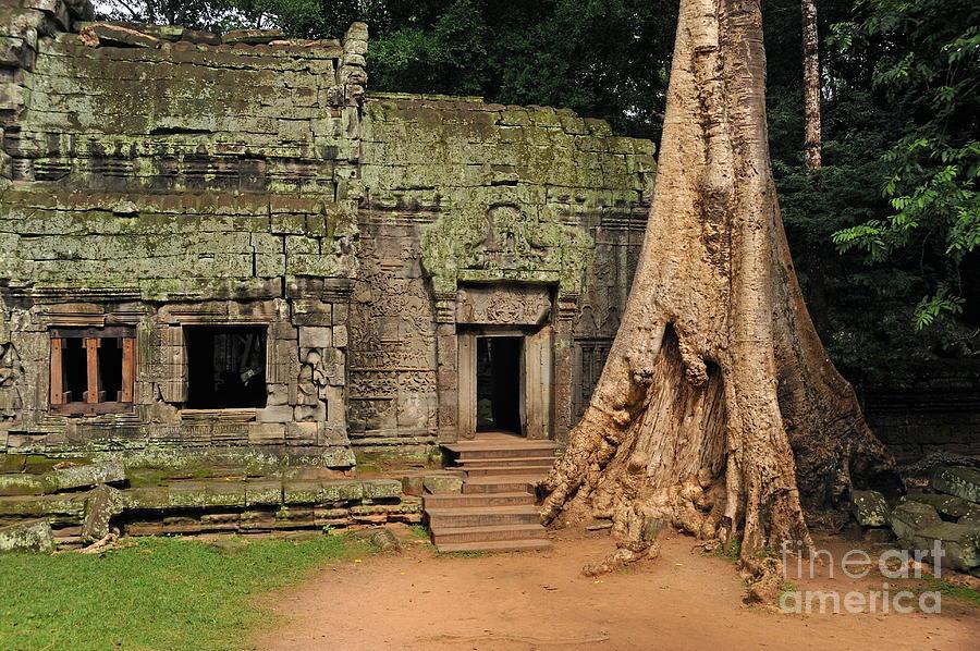 Preah Khantemple At Angkor Wat Photograph