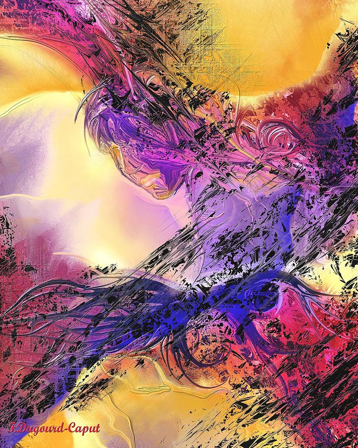 Abstract Digital Art - Presence by Francoise Dugourd-Caput
