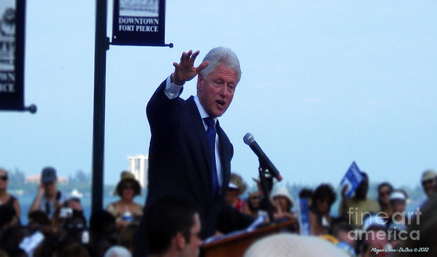 President Clinton In Fort Pierce Photograph