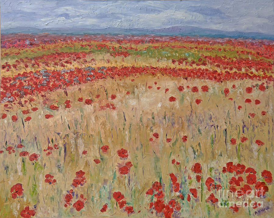 Provence Poppies Painting