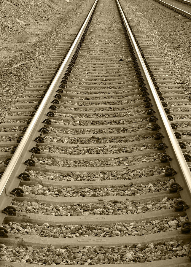 Railroad Tracks Photograph