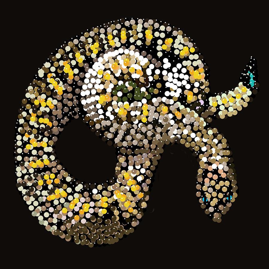 Snake Digital Art - Rattlesnake Bedazzled by R  Allen Swezey