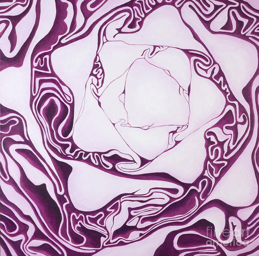 Red Cabbage Painting