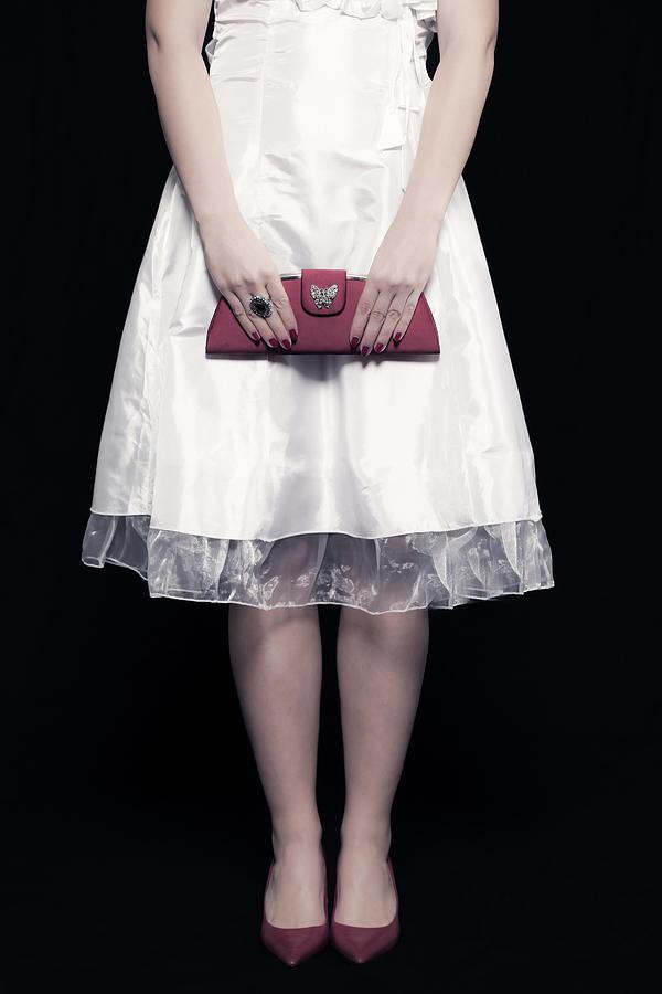 Woman Photograph - Red Handbag by Joana Kruse