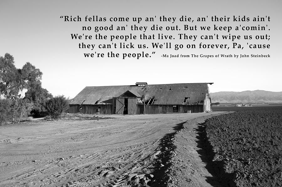 the migration to california in the grapes of wrath by john steinbeck Said john steinbeck focused on the dark side of life during the dust bowl migration to california in his the grapes of wrath ends in john steinbeck's.