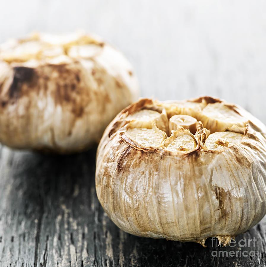Roasted Garlic Bulbs Photograph