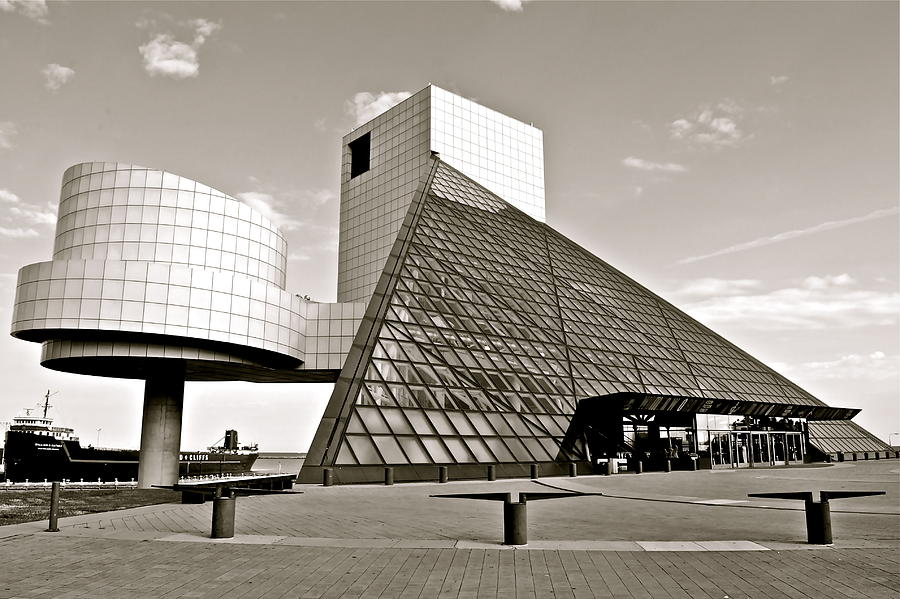 Cleveland Photograph - Rock Hall Of Fame by Frozen in Time Fine Art Photography