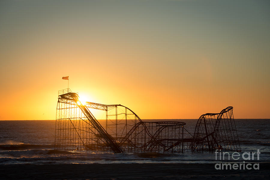 Roller Coaster Sunrise Photograph  - Roller Coaster Sunrise Fine Art Print