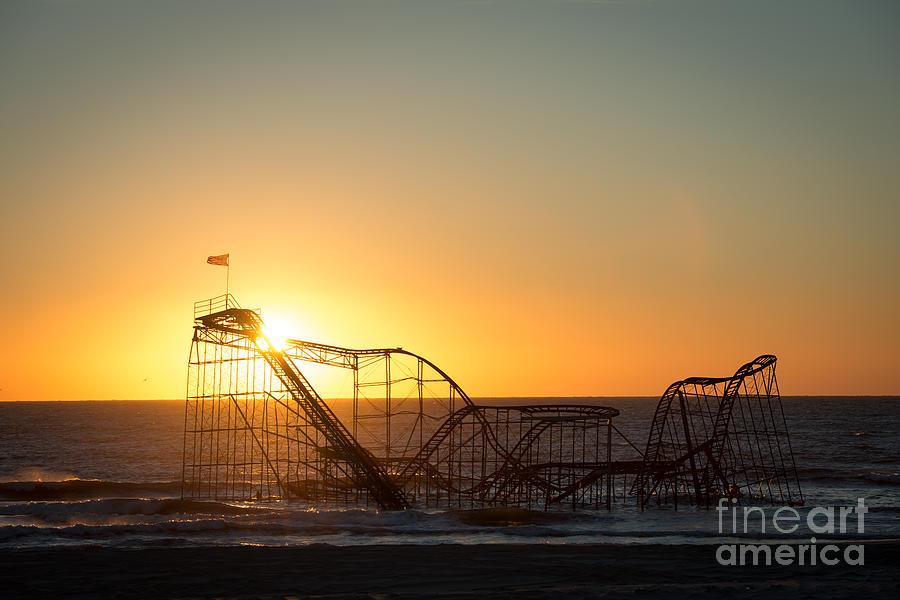Roller Coaster Sunrise Photograph