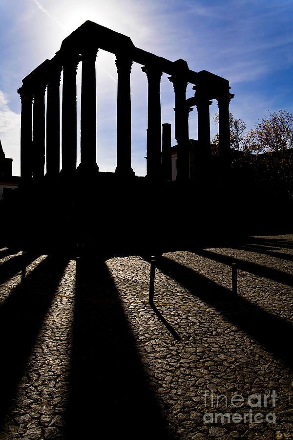 Roman Temple Silhouette Photograph