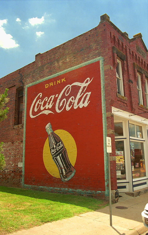 Route 66 coca cola ghost mural photograph by frank romeo for Coca cola wall mural