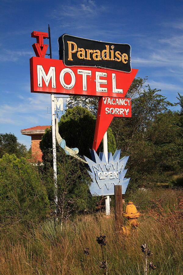 Route 66 - Paradise Motel Photograph