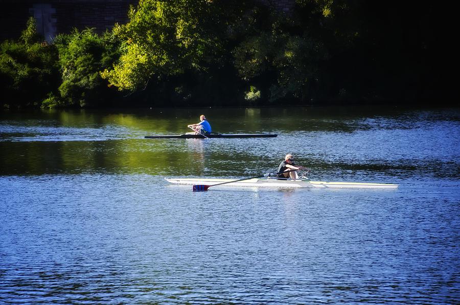 Rowing In Philadelphia Photograph