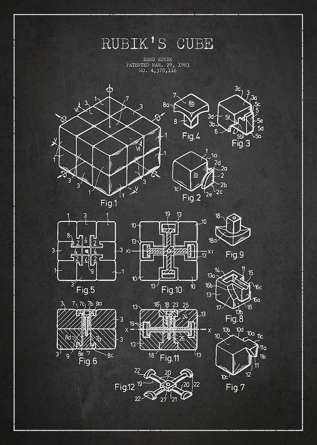Rubiks Cube Patent Drawing